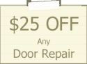 25$ off any garage door repair in forney